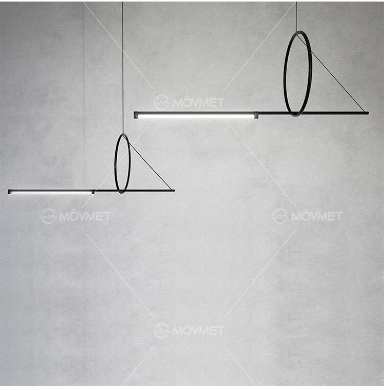 Moderna lâmpada do teto de metal led