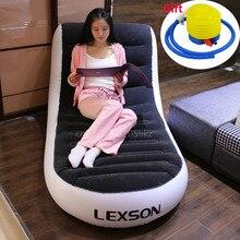 А, L-shape складной шезлонг ленивый стул диван кровать ПВХ Флокирование двойной надувной диван открытый надувной диван 165*84*79