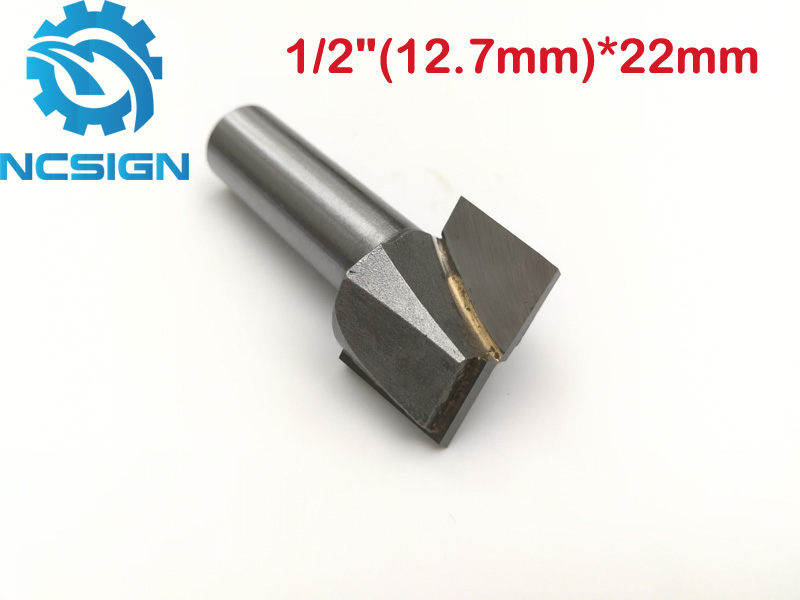 1pc 1/2 CNC carbide end mill tool woodworking router bit Cleaning bottom end milling cutter MDF,PVC,acrylic,wood 12.7*22mm 2pcs cnc carbide end mill tool 3d woodworking insert router bit tungsten cleaning bottom end milling cutter mdf pvc acrylic wood