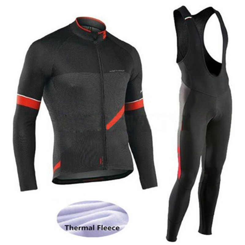 a2ed0cdac515 NW Winter Thermal Fleece Cycling Jersey Long Sleeve Jerseys Cycling Bib  Pants Set Bike Bicycle Cycling Clothes 6 Color