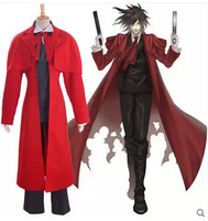 Free shipping Hellsing Alucard Japanese Anime Cosplay Costume
