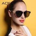 Aofly 2017 cat de ojos gafas de sol mujeres diseñador de la marca de lujo estilo reflectante revo lente marco de aleación de gafas uv400 femenino af79146