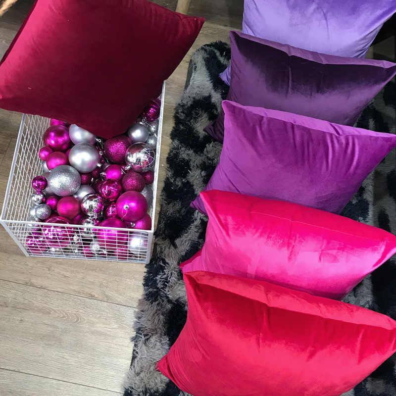 Роскошный милый бархатный чехол для подушки, наволочка, наволочка для подушки, зеленый, желтый, розовый, синий, белый, серый, Декоративные диванные подушки для дома