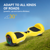6.5 Inch Adult Electric Scooter Hoverboard Self Balance Scooters Skateboard LED Smart Electric Scooter For Adults Overboard New