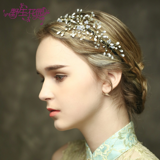 a7ea80f31 New tiaras para cabelo wedding hair accessories Elegant Crown Baroque Hair  Jewelry Women Party Flower bridal headpiece Huo Mei