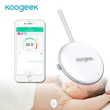 Koogeek giyilebilir akıllı bebek termometresi profesyonel kablosuz 4.0 izleme rahatsız etmeyin bebek 10 yapışkanlı Patche dahil