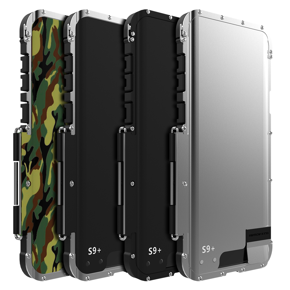 R-JUST ShockProof Case For Samsung Galaxy Note 8 9 S8+ S9 S9+ Flip Aluminum Metal King Iron Man 360 Protective Armor Phone Case