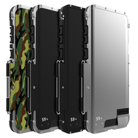 R JUST ShockProof Case For Samsung Galaxy Note 8 9 S8+ S9 S9+ Flip Aluminum Metal King Iron Man 360 Protective Armor Phone Case