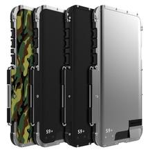 Schokbestendig Case Voor Samsung Galaxy Note 10 8 9 S8 + S9 S9 + S10 Flip Aluminium Metalen Koning Ijzer man 360 Beschermende Armor Telefoon Case