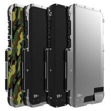 Stoßfest Fall Für Samsung Galaxy Note 10 8 9 S8 + S9 S9 + S10 Flip Aluminium Metall König Eisen mann 360 Schutz Rüstung Telefon Fall