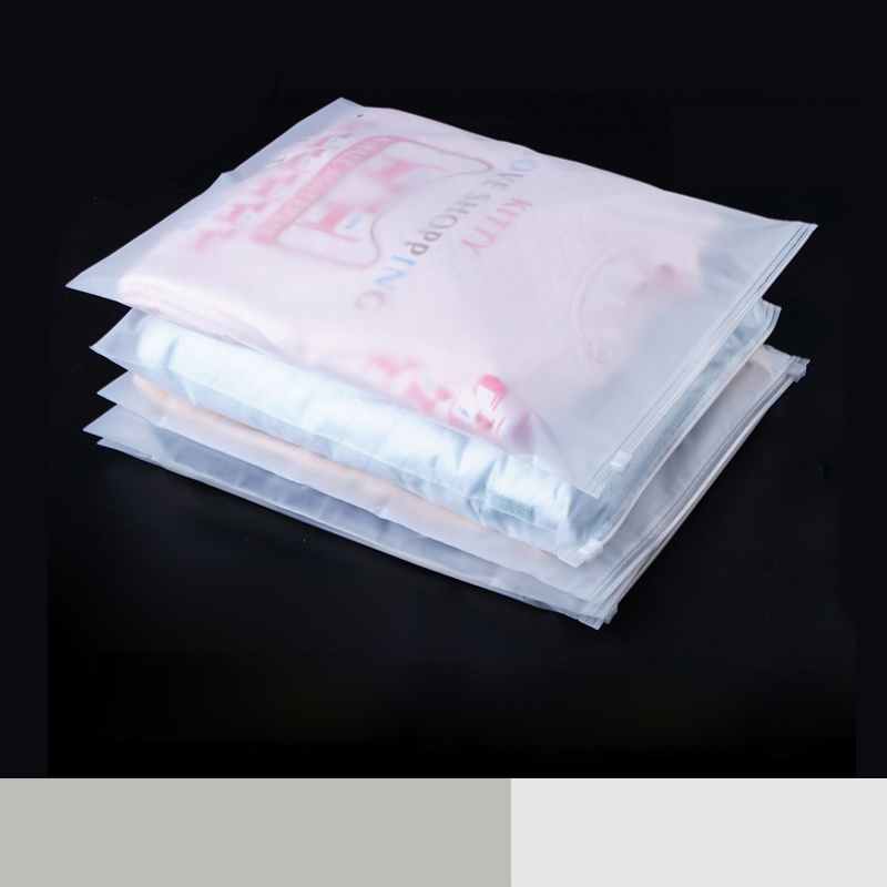 Frosted Clothing Storage Luster Packaging Zipper Plastic Pouch Matte Reusable Zip Lock Garment Package Dress Self Seal Bags