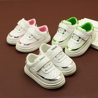 Baby First Walkers Baby Shoes Pu Leather Soft Bottom Sneakers for Babies