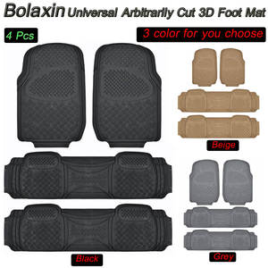 Bolaxin SUV Van Floor Mats Pad Liner Carpets 3D Slush Rubber Heavy Duty All  Weather
