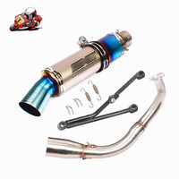 Slip On For Honda WH100T 100 Motorcycle full Exhaust Escape Modified Muffler Front Connect Link Pipe Fixed Bracket