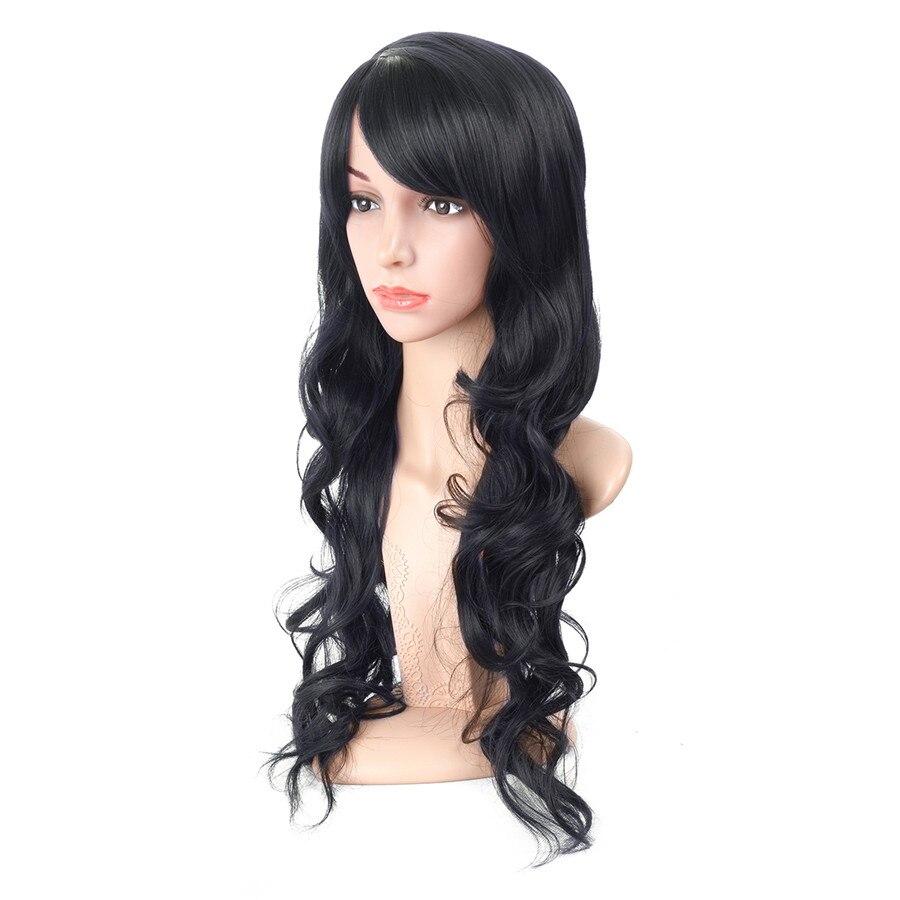 XCCOCO Syntetisk Hår Långvåg Curly Parykar 20 tum Cosplay Paryk - Syntetiskt hår