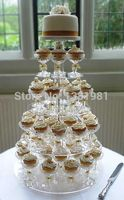 wedding decoration/ 7 Tier Round Beautiful Acrylic Cupcake Stands Party / Wedding / Festival Supplies Cake Display Shelf