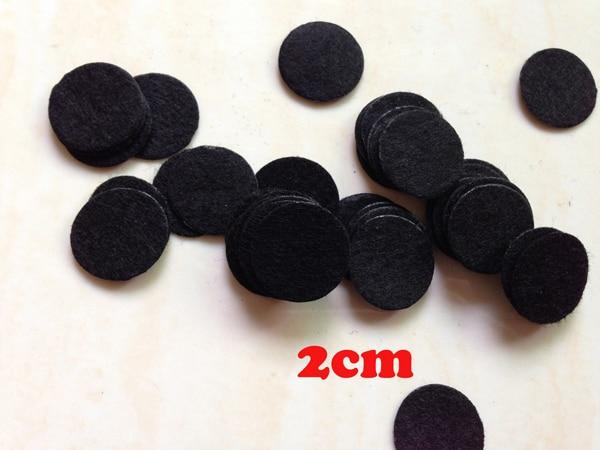 2000PCS/LOT Flower flat back 2cm Mini Round Felt accessory patch Black Color avaliable circle felt pads,DIY flower material