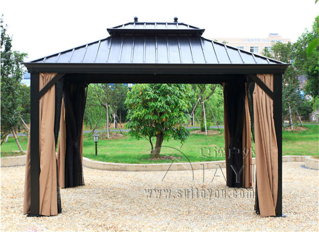 336 meter deluxe high quality metal canopy sunjoy outdoor garden gazebo tent patio pavilion - Sunjoy Gazebo