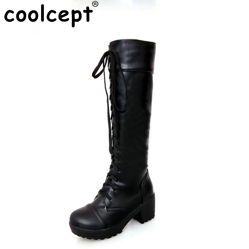 women high heel over knee boots motorcycle fashion autumn winter botas cross strap boot footwear heels shoes P20542 size 34-43 free shipping over knee wedge boots women snow fashion winter warm footwear shoes boot p15323 eur size 34 39