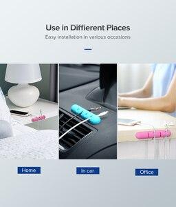 Image 4 - Ugreen Kabel Veranstalter Silikon USB Kabel Wickler Flexible Kabel Management Clips Für Maus Kopfhörer Kopfhörer Kabel Halter
