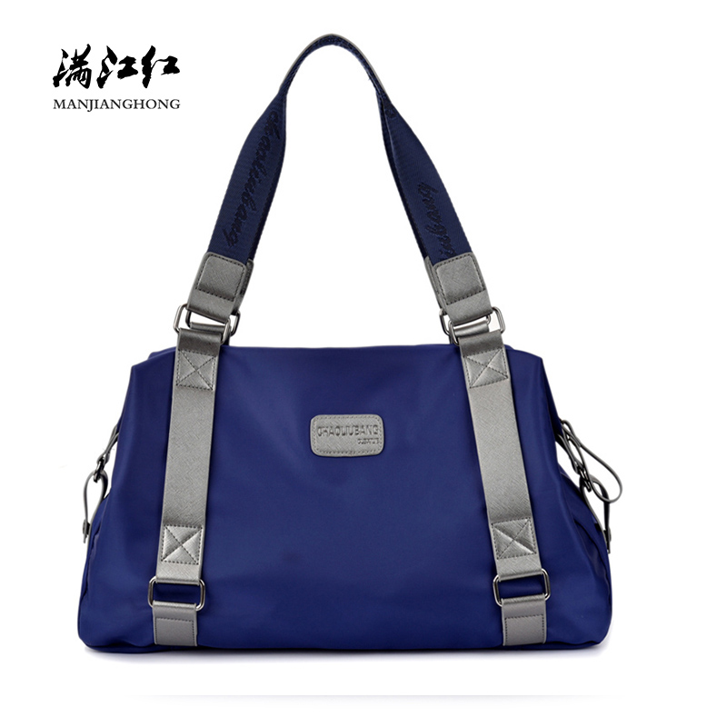Fashion Waterproof Nylon Travel Bag Women Men Large Capacity Casual Female Tote Shoulder Bags Male Travel Weekend Bag 15-202