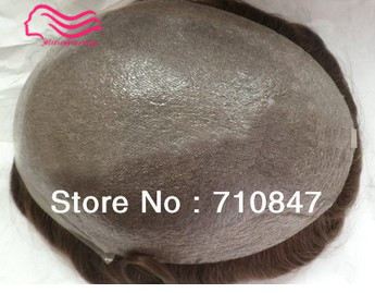 Tsingtaowigs men toupee super thin skin Vloop NG hair repalacemnt hair pieces men wig free shipping