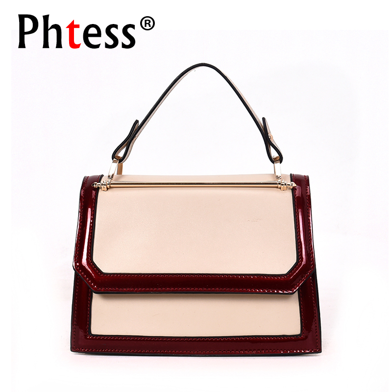 2018 Panelled Small Flap Bags For Girls Sac a Main Women Leather Handbags Crossbody Shoulder Bags Female Messenger Bags Girl New kzni women leather handbags genuine leather women messenger bags female purses and handbags sac a main bolsa feminina 1441