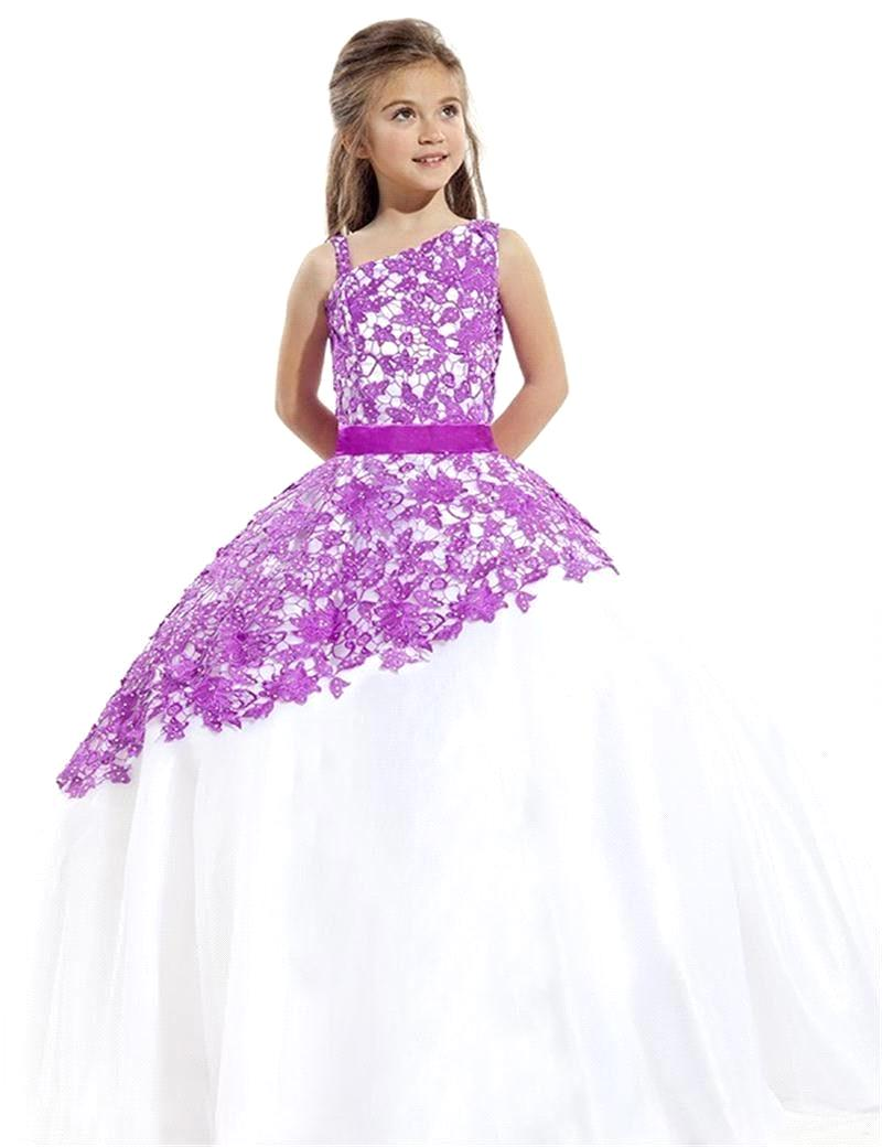 2019 New Arrival Pretty Adorable Tulle   Flower     Girl     Dress   First Communion   Dresses   For   Girls   Scoop   Girls   Prom Pageant   Dresses