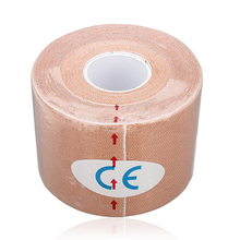 SZ LGFM 1 Roll Muscles Care Fitness Athletic Health Tape 5M 5CM Apricot