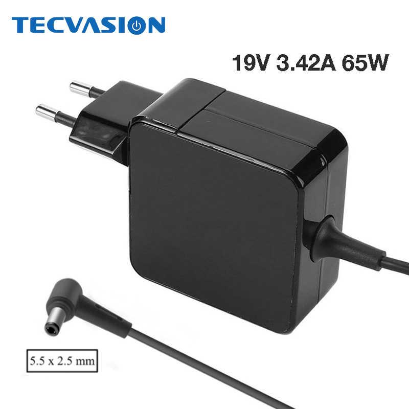 19 V 3.42A ноутбук адаптер переменного тока Батарея Зарядное устройство для Asus X455L X550V X550L X550C A450C X450V Y481C Y581L W519L ADP-65AW Питание