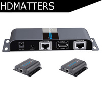 LKV712 HDMI extender 1X2 UTP Splitter by cat5e/6 cable up to 120ft(one sender+2 receivers included)