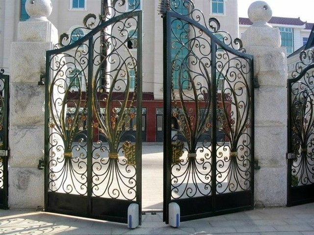 Wrought Iron Gates, Wrought Iron Patio Doors House Doors Off The Courtyard Door  Iron Door