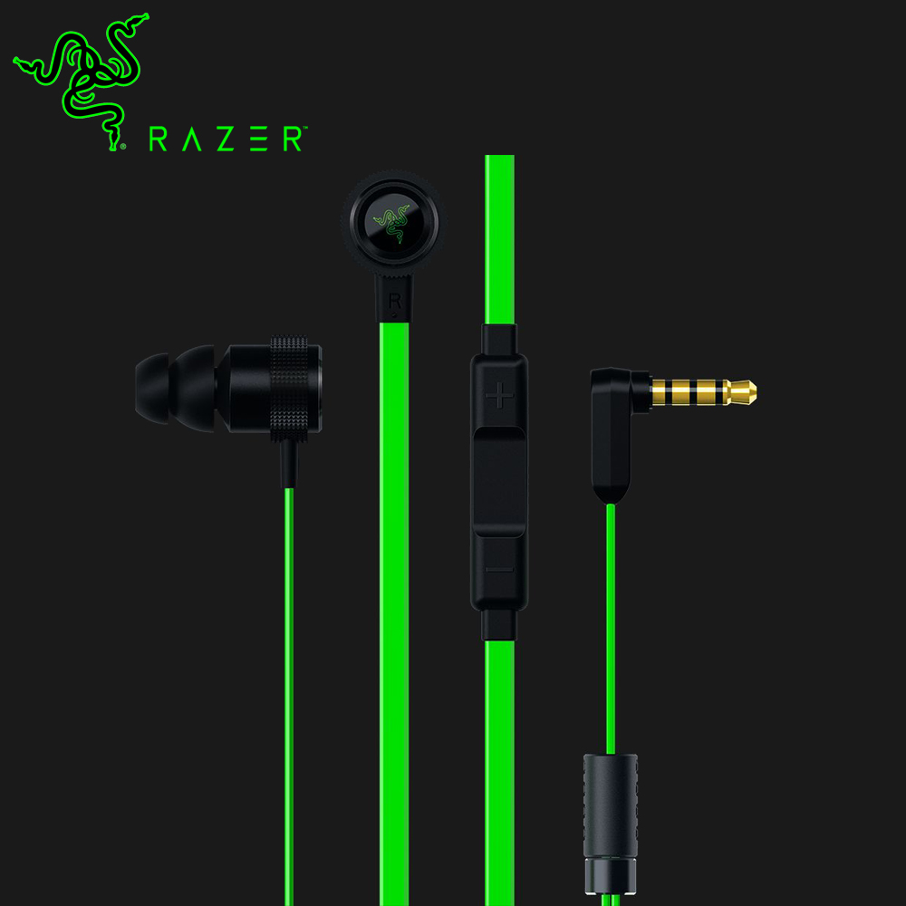 цена на Original Razer Hammerhead Pro V2 Earphone Flat Style Cables Omnidirectional 3.5mm and Volume Controls for eSport Gaming headset