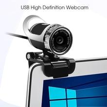 Kebidu USB HD веб-камера с микрофоном высокой четкости веб-камера 360 градусов клип на компьютер Skype Youtube ПК ноутбук камера для ноутбука