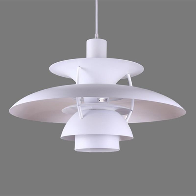 Lampe suspendue en aluminium nordique lampe pendante minimaliste moderne PH5 lampe pendante de conception du danemark pour le Restaurant