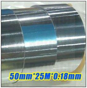 1x 5cm 50mm 25meters 0 18mm One Face Adhesive Aluminum Foil Tape For Laptop EMI Shielding