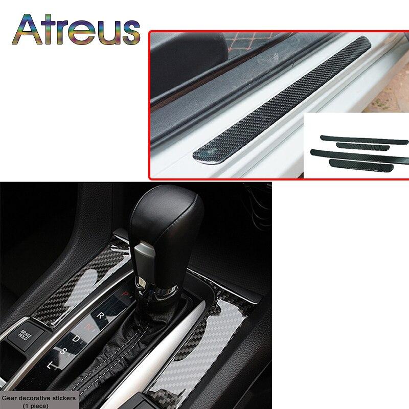 Atreus Canbon Fiber Steering Wheel Gears Shift Panel Trim Car Stickers For 10th New Honda Civic 2016 2017 Accessories aluminum alloy shift paddles fashion style car steering wheel decoration accessories for e90 e3 e92 m3 e93 m3