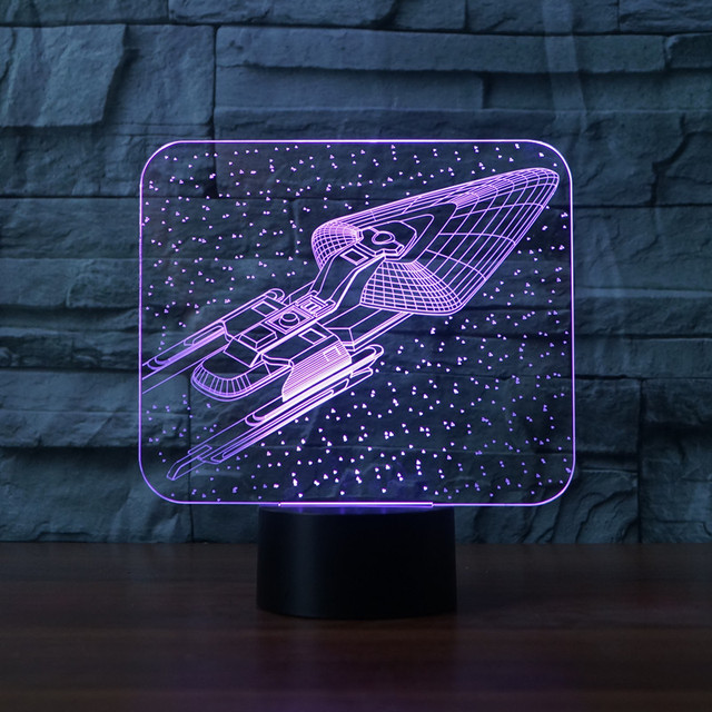 Nieuwigheid Star Trek 3D Nachtlampje Lamp Star Wars USB LED ...
