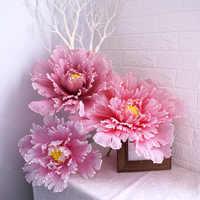 Große Künstliche Pfingstrose Blume Hochzeit Hintergrund Arch Dekoration Gefälschte Blume Fenster Display Studio Schießen Requisiten