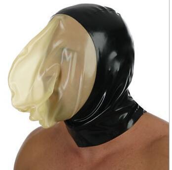 PU Leather Hood Mask Hood Bondage Blindfold Sex Toys For Couples BDSM Adult Game Fantasy Sex Cosplay Restraints Sex adult mask