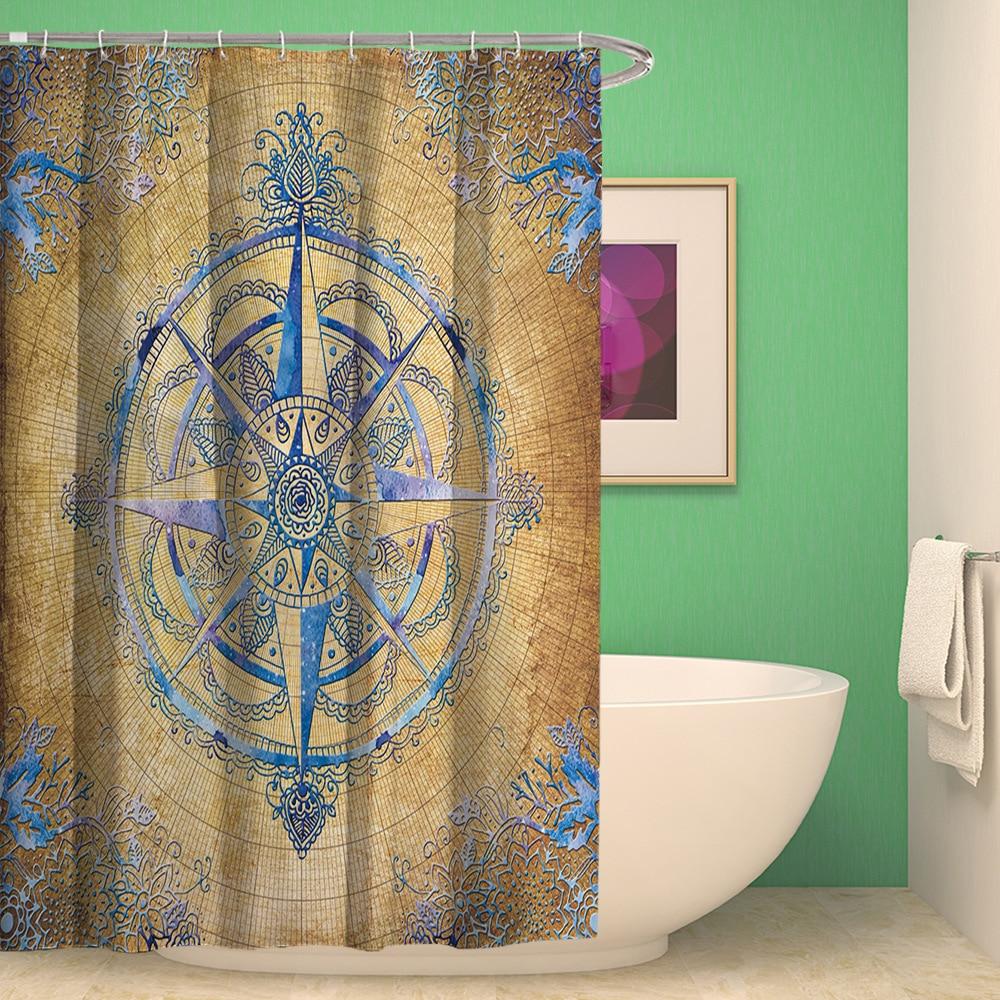 SunnyRain 1 Piece Classic Mandala The Compass Decorative Bath ...