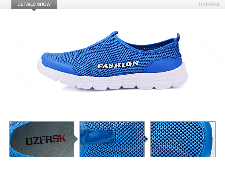 OZERSK Brand Breathable Men Running Shoes Men's Jogging Mesh Summer Mesh Sneaker Casual Slip-on Sandals Shoes Free Shipping