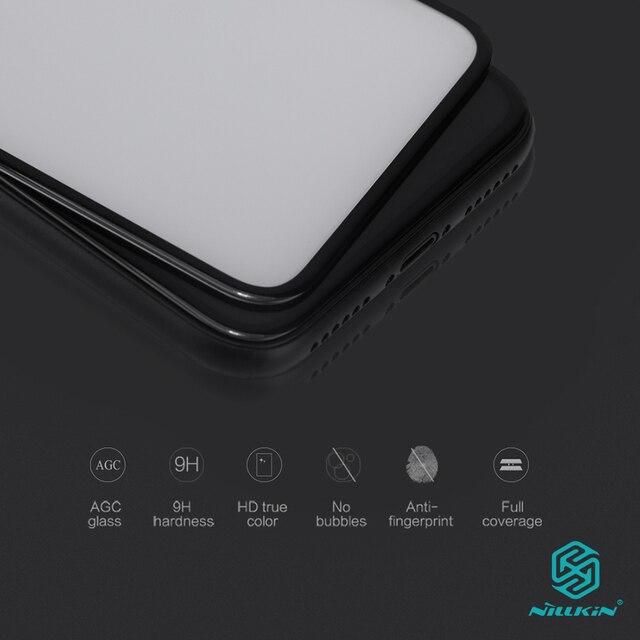 아이폰 x 스크린 프로텍터 용 nillkin 3D CP + 9H 0.33mm iphone XS 용 얇은 강화 유리 곡선 5.8 하이 클리어