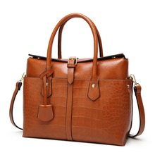 все цены на 2019 New Quality PU Leather Women Handbag Retro Fashion Female Square bag Crocodile pattern Tote bag Lock Shoulder Messenger Bag онлайн