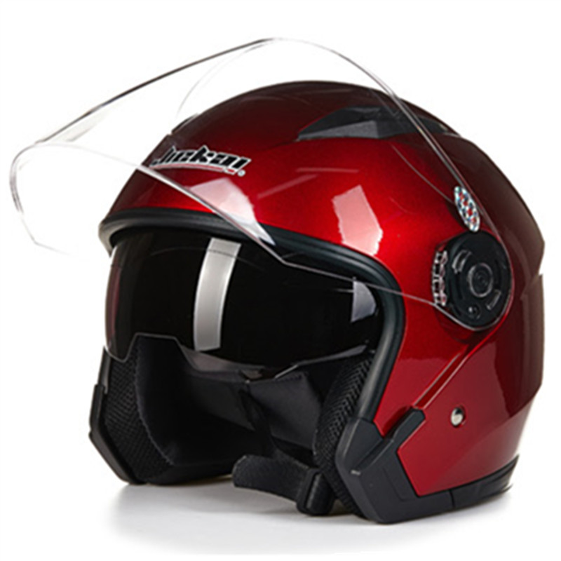 Lente dupla 3/4 face Aberta capacete JIEKAI 512 modelo casco do capacete da motocicleta scooter capacete de Segurança peso leve
