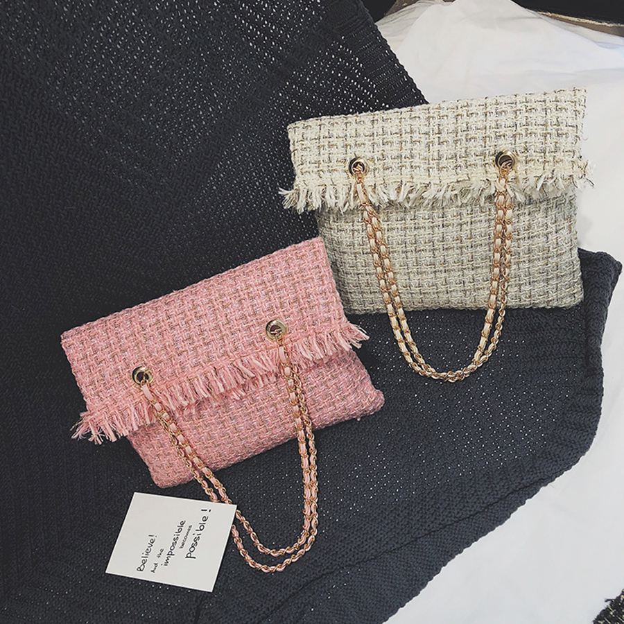 Winter Wool Bags For Women Shoulder Bag 2018 Fashion Plaid Women Messenger Bag Big Capacity Females Tote Cute Plaid Girls Bolsa chic various plaid pattern tassel winter scarf for women