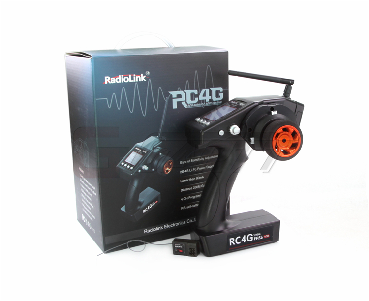RadioLink RC4G 2.4G 4CH Radio Control System Transmitter w/ R4EH-G Failsafe Receiver for RC Car Boat Rx new radiolink rc4g 2 4g 4ch radio control system transmitter with r4eh h receiver for rc car boat helicopter quadcopter remote