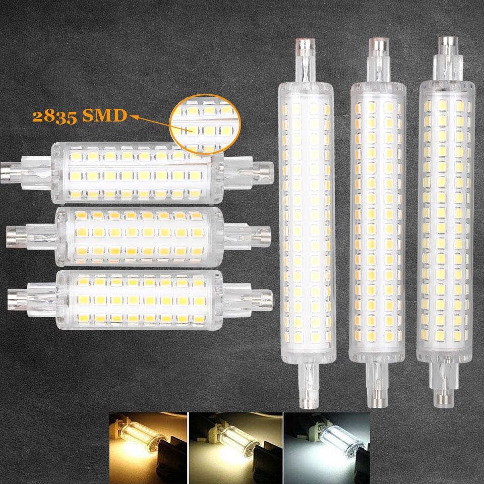 Full Watt 12W 16W J78 J118 LED R7S Horizontal Plug Lamp 78mm 118mm LED Floodlights AC 110V 220V For Floodlight Lawn Light Blub