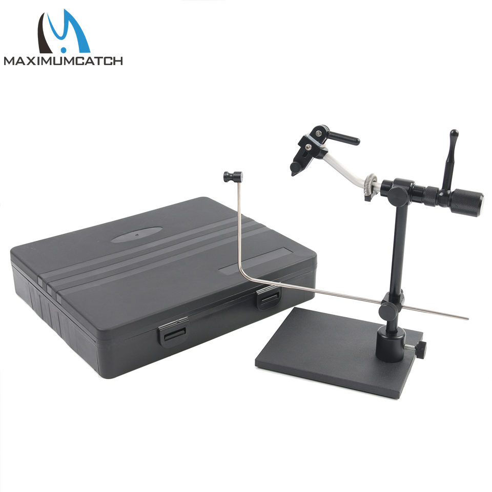Maximumcatch Rotary Fly Tying Vise Machined Alloy Travel Vise With Base Fishing Tool Set Traveler Fly Fishing Tackle Kit