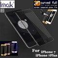 Imak anti-explosão 9 h 3d curvo completa tampa de vidro temperado para iphone 7/7 mais protetor de tela para iphone 7 plus iphone7 vidro